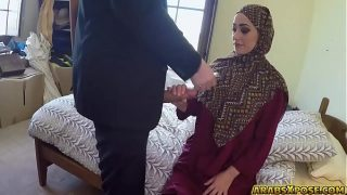 Beautiful Arab slut fucks for some money